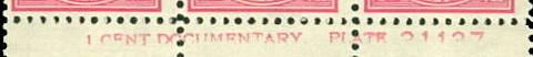 Imprint CDP-1: ... CENT DOCUMENTARY. PLATE …